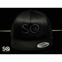 SQuape Trucker Cap 3D Black in Black