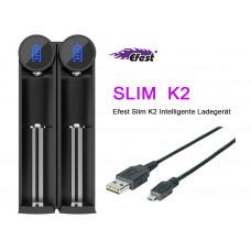 Efest SLIM K2 2-Schacht Li-Ion-Akkuladegerät